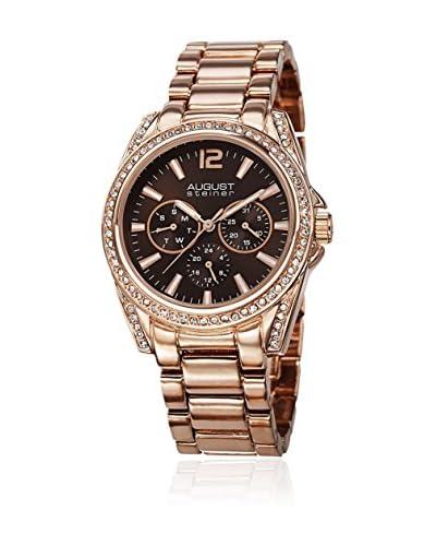 August Steiner Watch Ladies Quartz Multifunction Elegant Bracelet Watch Oro Rosa