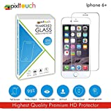 PIXLTOUCH Best Quality Tempered Glass For IPhone 6 Plus Best Fit For IPhone Premium 9H Hardness, Shatterproof...