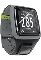 D-Flectorshield Super Clear Scratch Resistant TOMTOM RUNNER GPS Screen Protector - Free Replacement Program