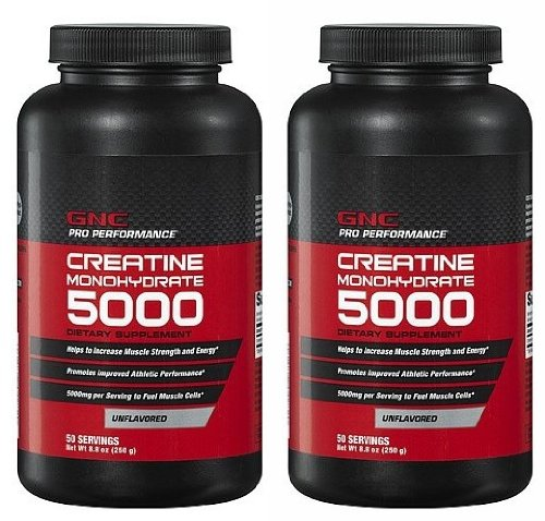 GNC Pro Performance Creatine Monohydrate, Unflavored, 8.8 oz - 50 Servings (Two Bottles each of 50 Servings)一站式海淘,海淘花专业海外代购网站--进口 海淘 正品 转运 价格