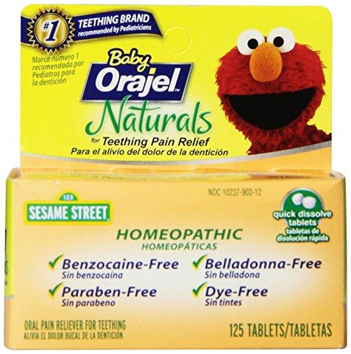 Orajel Baby Naturals Teething Tablets