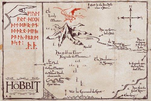 GB eye, The Hobbit, Mountain Map, Maxi Poster, 61x91.5cm