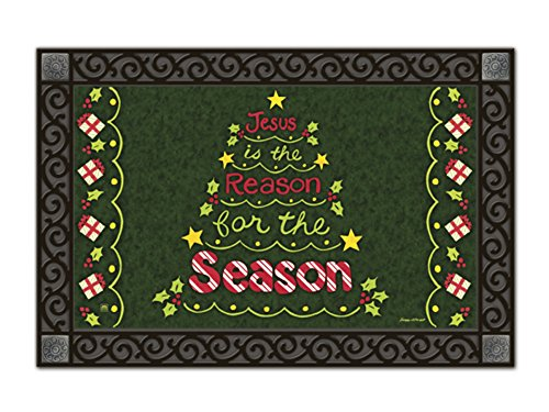Reason for the Season Christmas Doormat Religious Jesus Indoor Outdoor 18