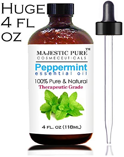 Disdainful Pure Peppermint Oil - 4 Oz Premium Quality 100% Pure & Natural Essential Oil (Mentha Piperita) - Steam Distilled, Medical Grade - Aromatherapy and Many Household Uses and Benefits