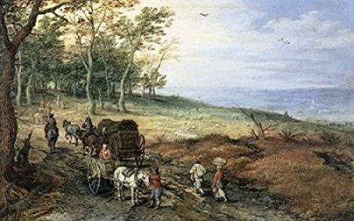 jan-brueghel-the-elder-a-wooded-landscape-with-travelers-artistica-di-stampa-6096-x-9144-cm