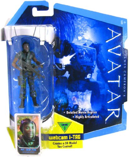 Buy Low Price Mattel James Cameron's Avatar Movie 3 3/4 Inch RDA Action Figure Sean Fike with Face Mask (B0035LF2T0)