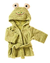 Blossoms and Buds Terry Cloth Frog Bath Robe