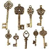 142934x30 Beauty Bronze Vintage Key Charms Alloy Pendants Findings