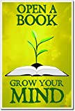 Open a Book Grow Your Mind - NEW Classroom Motivational Reading Poster