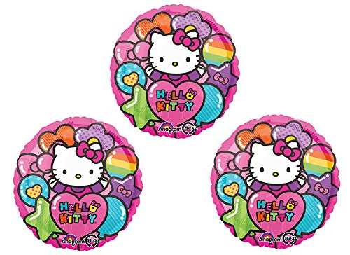 "Hello Kitty 18"" Mylar Balloon 3pk - 1"