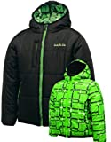 Dare2b Temperament Boys Reversible Quilted Jacket / Coat (Black, Youth 32