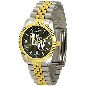 Wyoming Cowboys NCAA AnoChrome Executive Mens Watch by SunTime