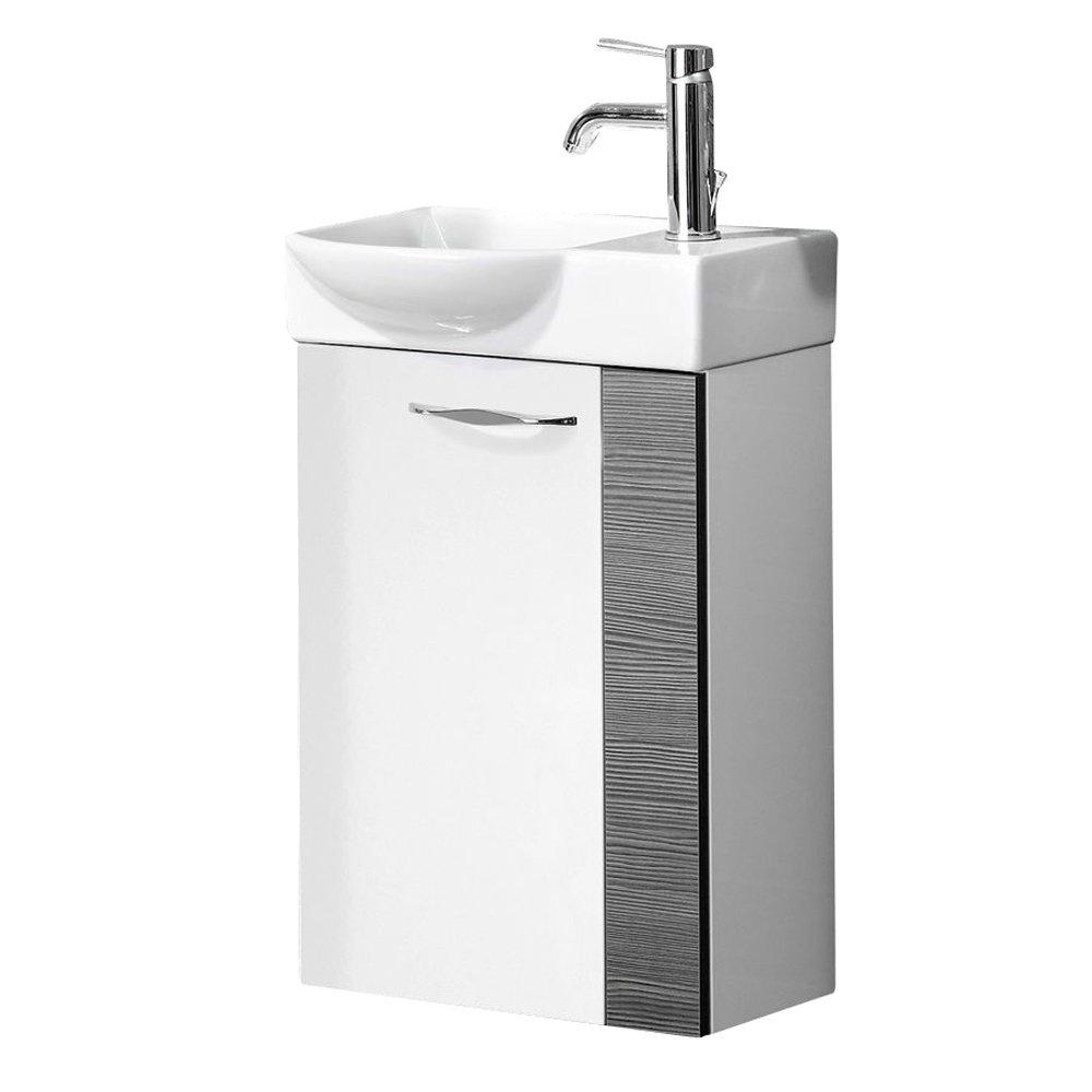 FACKELMANN Gäste WC Waschtisch Sceno, Hochglanz weiß/Pinie anthrazit   Kundenbewertung und weitere Informationen