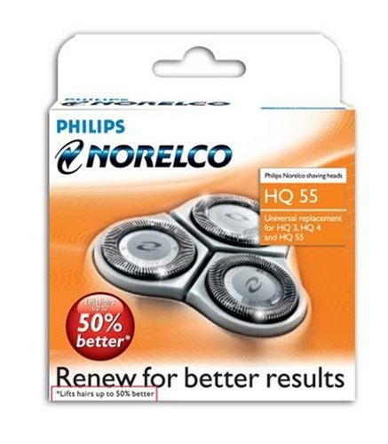 Philips Norelco HQ 55 Reflex  Replacement Heads (Norelco Replacement Blades Hq55+ compare prices)