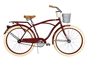 Huffy Bicycle Company Mens Cruiser Deluxe Bike, Vintage Burgundy by Huffy
