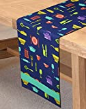 Sanjeev Kapoor Bon Appetit Cotton Table Runner - Indigo Bay