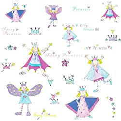 RoomMates RMK1015SCS Fairy Princess Wall Decals