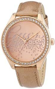 Guess - W0161L1 - Montre Femme - Quartz Analogique - Bracelet Cuir Or Rose