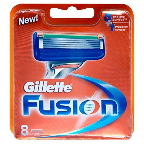 Gillette, Fusion, Set di lamette di ricambio per rasoio, 8 pz.