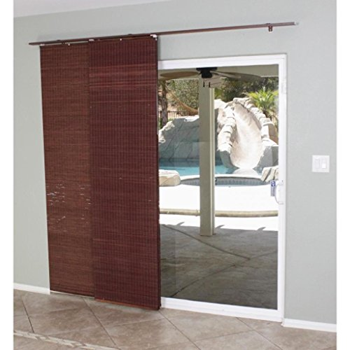 Slide Door Patio Shade Flat Sliding Panel Track Mahogany