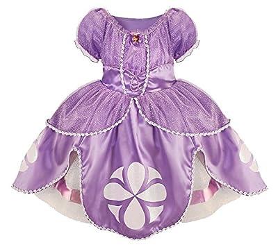 Disney Junior Sofia the First Deluxe Costume Dress Size Medium 7 / 8 Halloween by Disney Store