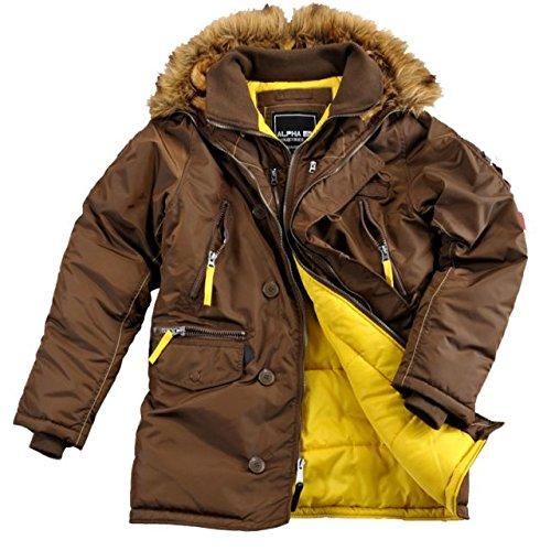 Alpha Ind. Jacke PPS N3B – brown Größe L günstig online kaufen