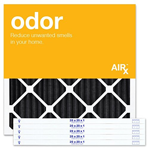 AiRx ODOR 20x20x1 Air Filters - Best for Odor Control - Box of 6 - Pleated 20x20x1 MERV 8 Air Filters, AC Filters, Furnace Filter - Energy Efficient (House Air Filter 20x20x1 compare prices)