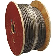 Apex Cooper Campbell 7000927 Uncoated Galvanized Cable-200' 5/16