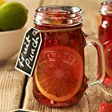 Kilner Handled Drinking Jar 14oz / 400ml - Jam Jar Glass with Handle for Cocktails and Smoothies