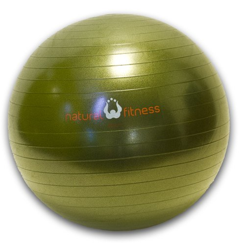 Natural Fitness 65cm Burst-Resistant Exercise Ball (Olive)