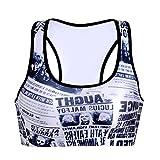 JTC Femme Sous-vêtements Réglable Veste Gilet Yoga Journal Forme Soutien-Gorge Sport Respirant 80-85CM (noir personne)...