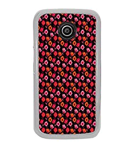 ifasho Animated Pattern design many small flowers Back Case Cover for Moto E