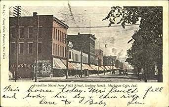 Franklin street fifth street michigan city indiana original vintage postcard at amazon 39 s for Olive garden michigan city indiana
