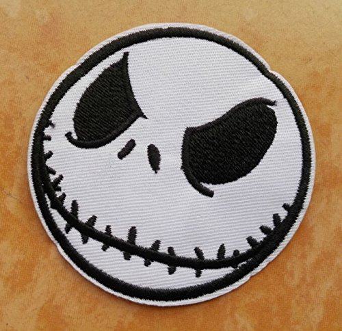 FairyMotion Jack Iron On Patches Skull Halloween Gift Embroidered Punk Applique Patch Diy Cloth Accessory Wholesale 20Pcs/Lot Perfect (Cute Halloween Tombstone Sayings)