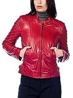 DEDA LEATHER Cazadora Piel (Rojo)