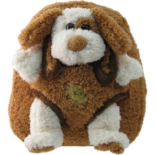 Brown-Puppy-Plush-Kids-Animal-Backpack