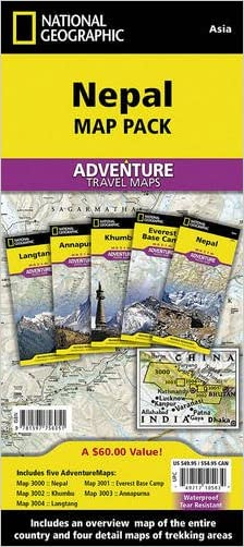 Nepal [Map Pack Bundle] (National Geographic Adventure Map)