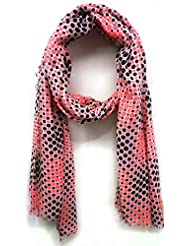 Scarfking Scarfking Pop Dot Printed Stolecoral Black
