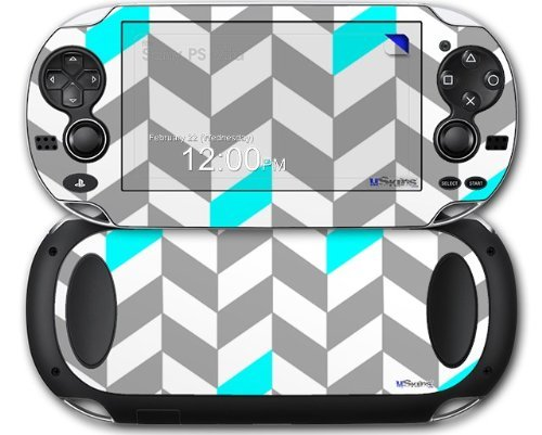 chevrons-gray-and-aqua-decal-style-skin-fits-sony-ps-vita-by-uskins