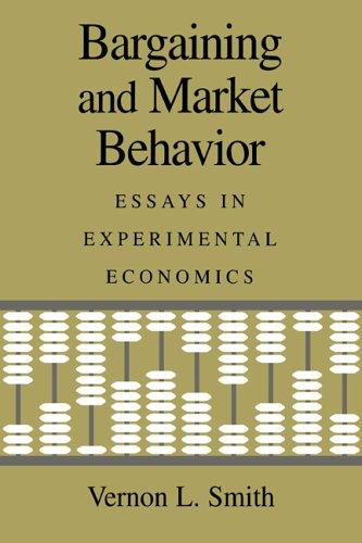 Bargaining and Market Behavior: Essays in Experimental Economics