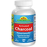 Activated Charcoal 280 mg 250 Capsules by Nova Nutritions