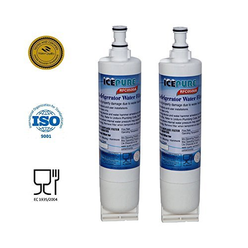 IcePure Premium Refrigerator Replacement Water Filter, compatible with Whirlpool PUR 4396508, 4396510 for Kitchenaid Maytag Whirlpool Side By Side Refrigerator (2 pack) (Kitchen Aid Air Filter compare prices)