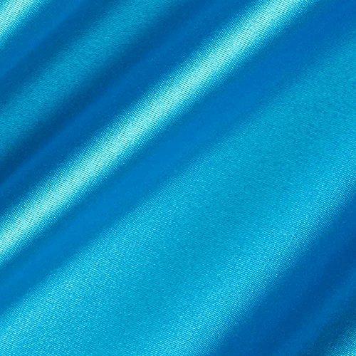 [Turquoise Satin Fabric 60