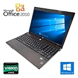 【Microsoft Office2010搭載】【Win 10搭載】HP 4525s/新世代AMD Athlon II 2.1GHz/メモリ4GB/HDD250GB/大画面15.6インチ/無線LAN搭載/DVDドライブ/中古ノートパソコン/10キー付キーボード