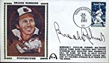 BROOKS ROBINSON JSA CERT STICKER FDC FIRST DAY COVER AUTHENTIC AUTOGRAPH