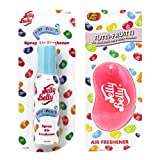 JELLY BELLY TUTTI FRUITY BEAN SWEET 3D HANGING + SPRAY SET SCENT AIR FRESHENER