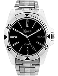 Cavalli Black Dial Ultimate Stainless Steel Watch-For Men, Boys