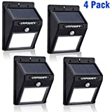 Solar Light,URPOWER® 8 LED Outdoor Solar Powerd,Wireless Waterproof Security Motion Sensor Light for Patio, Deck, Yard, Garden,Driveway,Outside Wall with 2 Modes Motion Activated Auto On/Off(4 Pack)