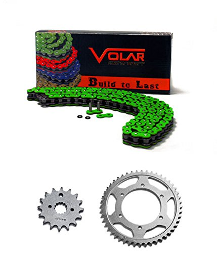 2008-2012 Kawasaki EX250 Ninja 250R Chain and Sprocket Kit - Heavy Duty - Green