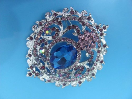 1P Elegant Charming Rhinestone Crystal Metal Pin Brooch